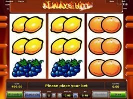 Online slot machine Always Hot Deluxe for fun