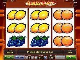 Online slot machine Always Hot Deluxe for fun