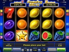 Online slot machine Amazing Stars for free