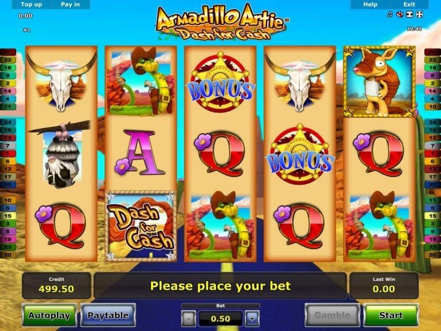 Free casino slot machine Armandillo Artie