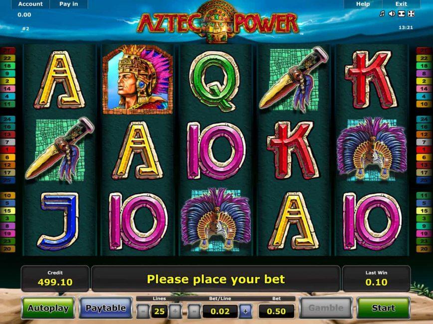Aztec power slot machine online novomatic price strategy