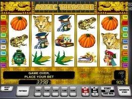 Casino slot machine Aztec Treasure