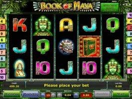 Free casino slot Book of Maya online