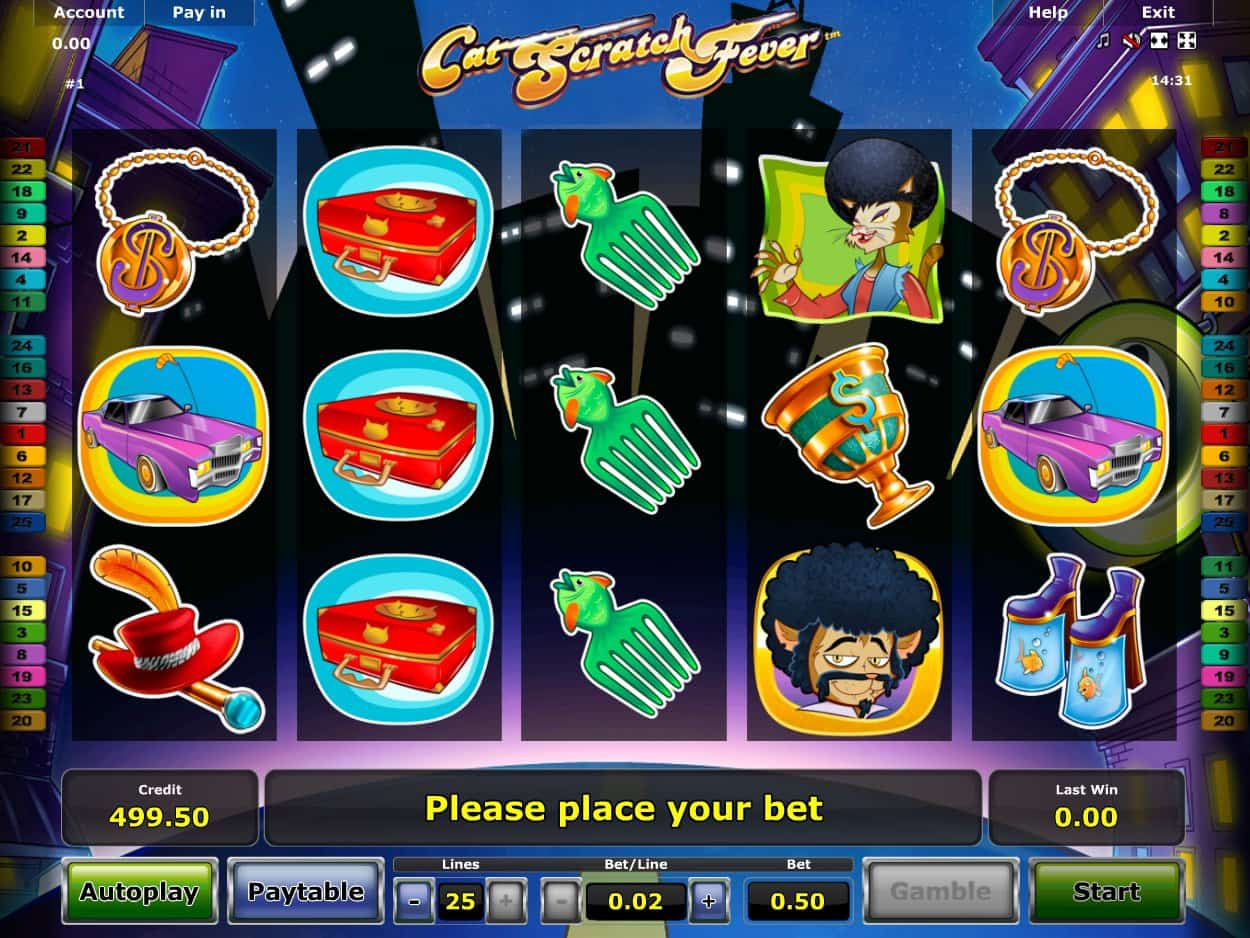 Meaning cat scratch fever novomatic slot game account free
