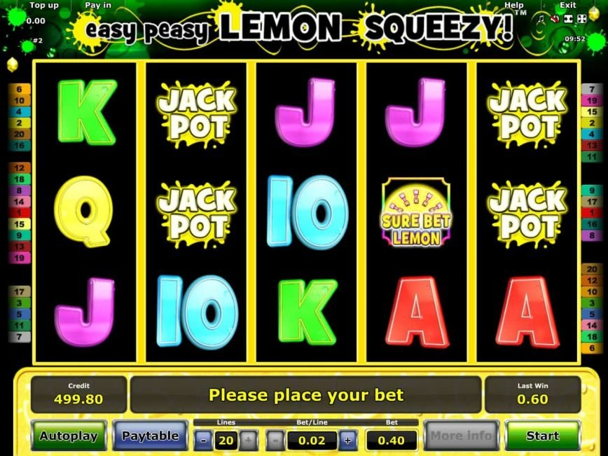 Easy Peasy Lemon Squeezy online casino slot machine for fun