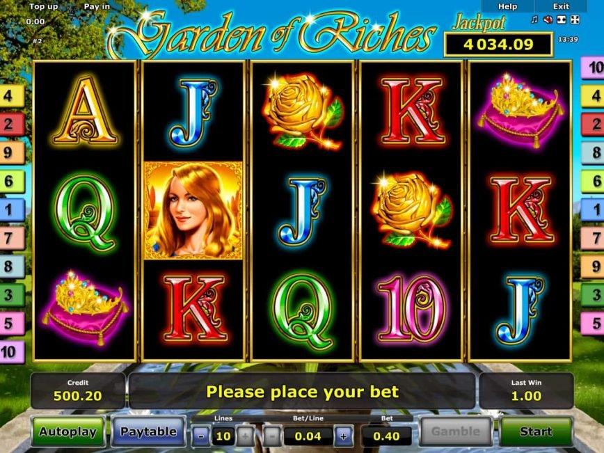 Casino slot machine Garden Riches online for fun