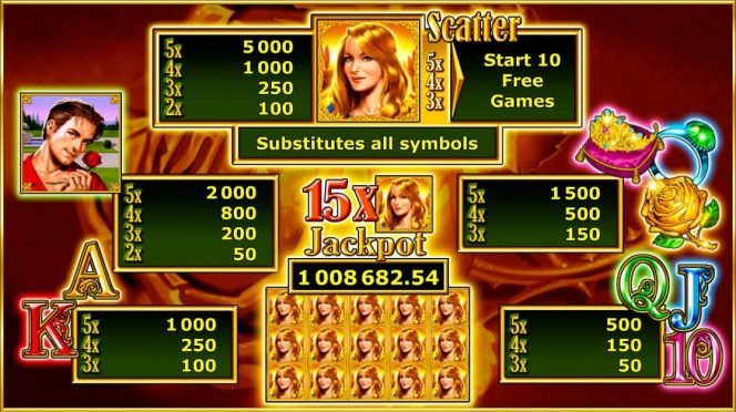 Online free slot Garden of Riches - paytable
