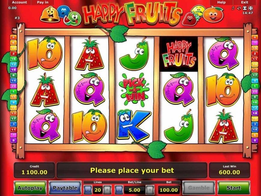 Online casino slot machine Happy Fruits