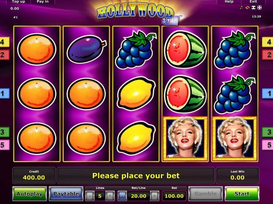 Free casino slot Hollywood Star no deposit