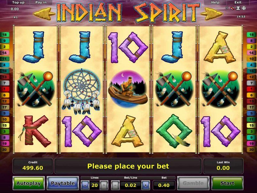 Online free slot game Indian Spirit