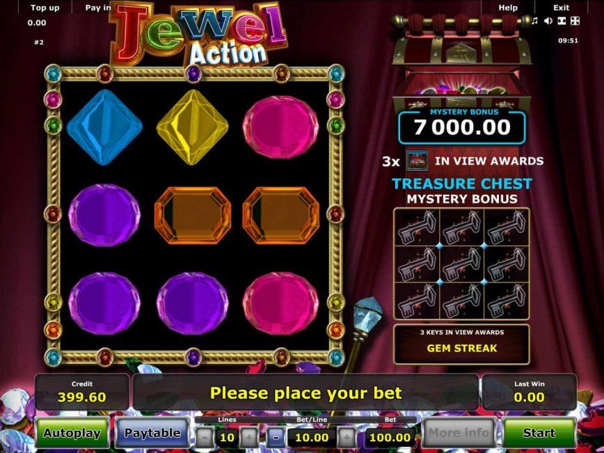 Online free slot machine Jewel Action no deposit