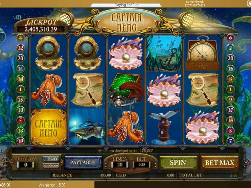 Free slot machine Captain Nemo
