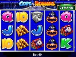 Online casino slot machine Cops'n'Robbers Millionaires Row