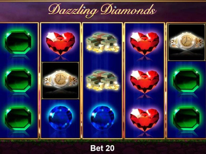 Online casino slot machine Dazzling Diamonds no deposit