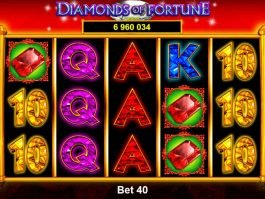 Free online slot game Diamonds of Fortune