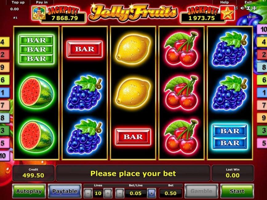 Online free slot machine Jolly Fruits