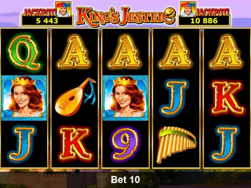Online casino slot machine King's Jester