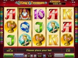 Online casino slot machine King's Treasure