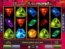 Online casino slot Marilyn's Diamonds no registration