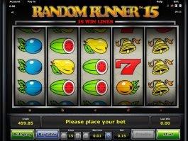 Online free slot machine Random Runner 15 no deposit