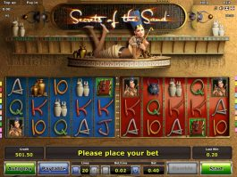 Free casino online slot Secrets of the Sand for fun