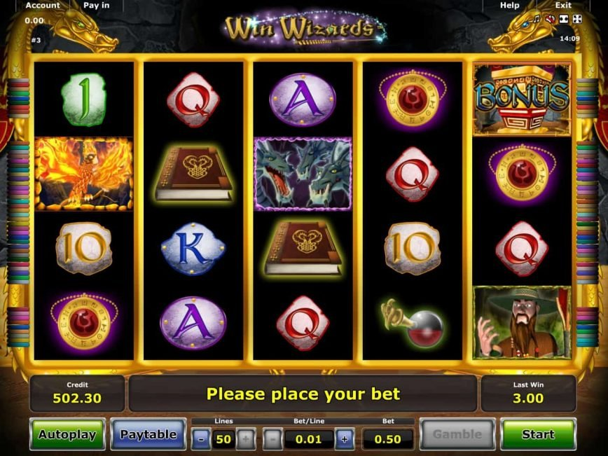 Online casino slot Win Wizards for free