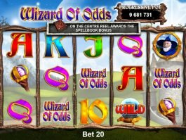 Casino slot game Wizard of Odds online for free