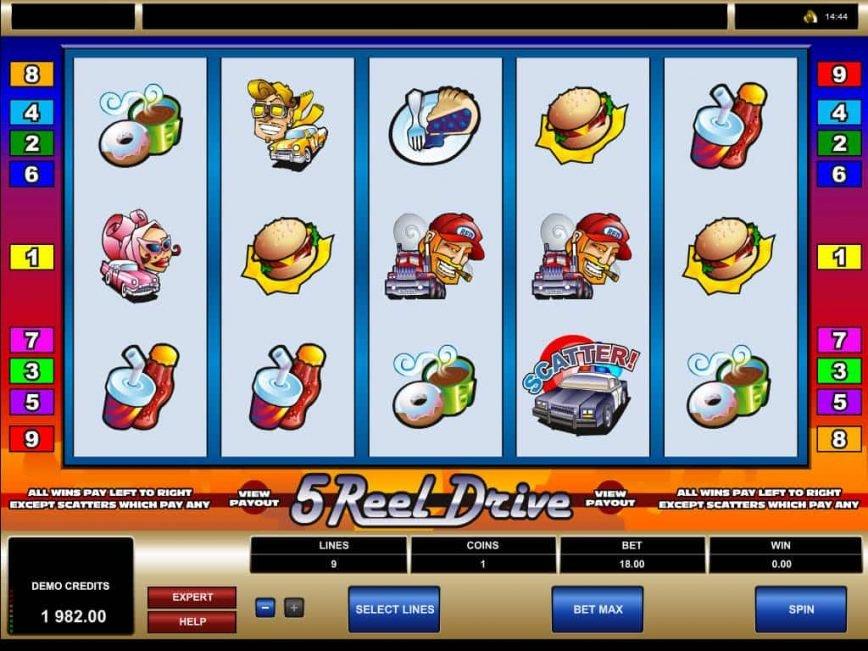 Spiele 5 Reel Drive - Video Slots Online
