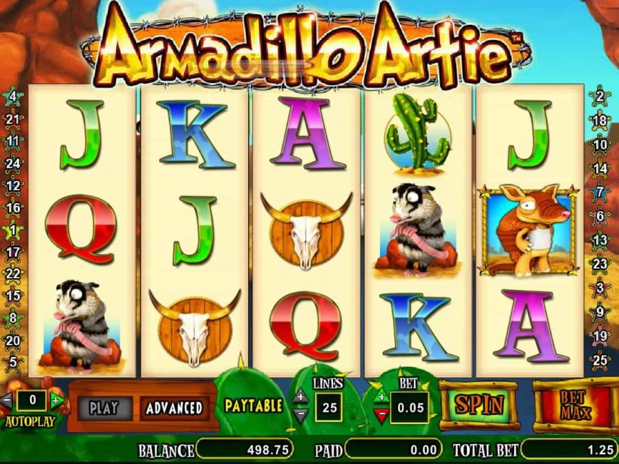 Play free slot game Armadillo Artie