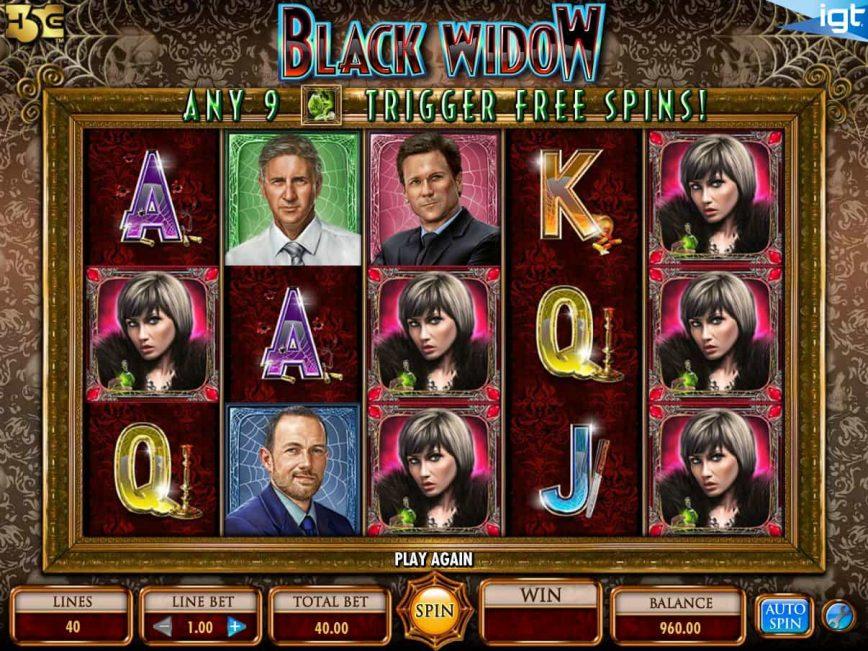 Slot machine Black Widow online for free