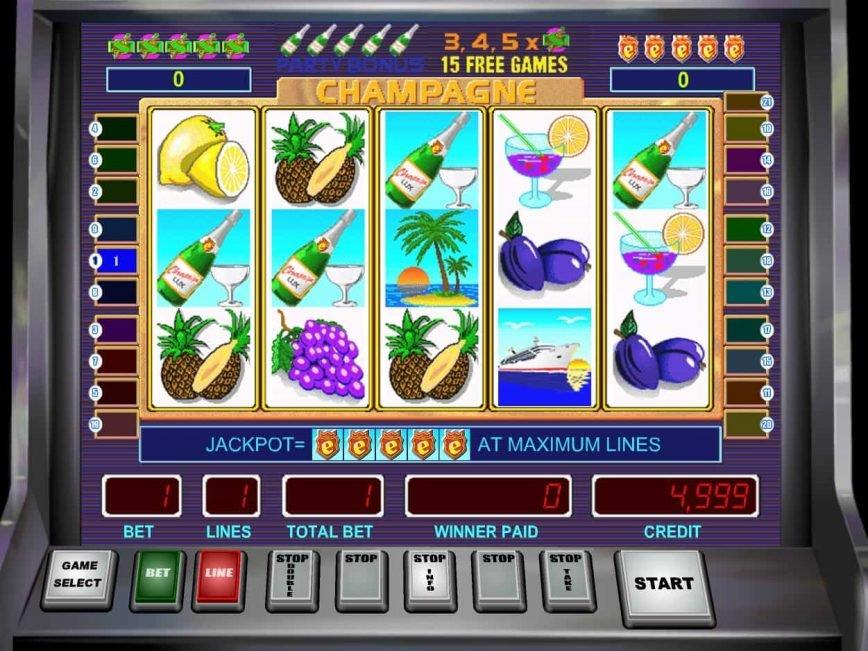 Free slot machine Champagne no deposit