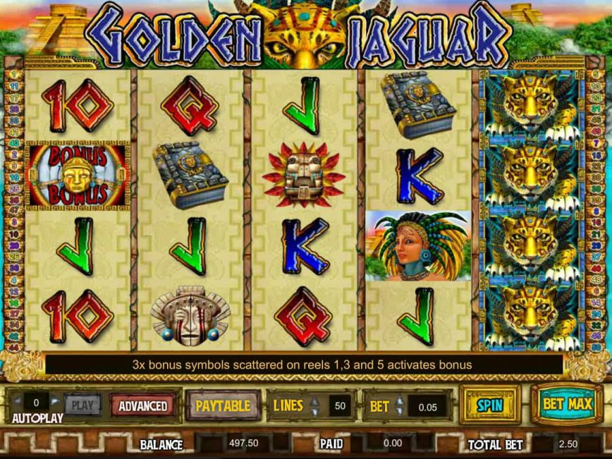 Free online slot game Golden Jaguar