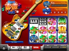 Play casino slot game Hard Will Rock