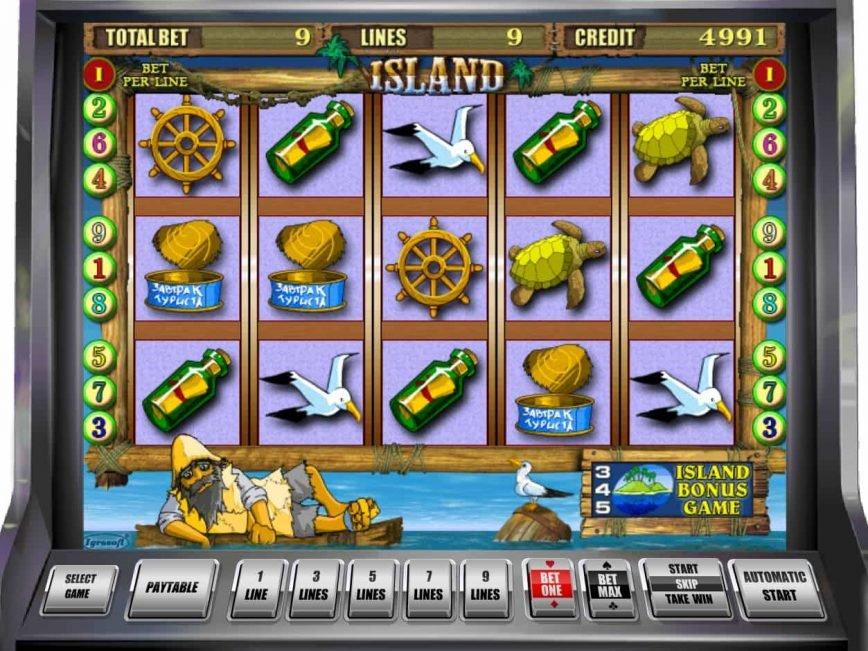 Play free casino slot game Island
