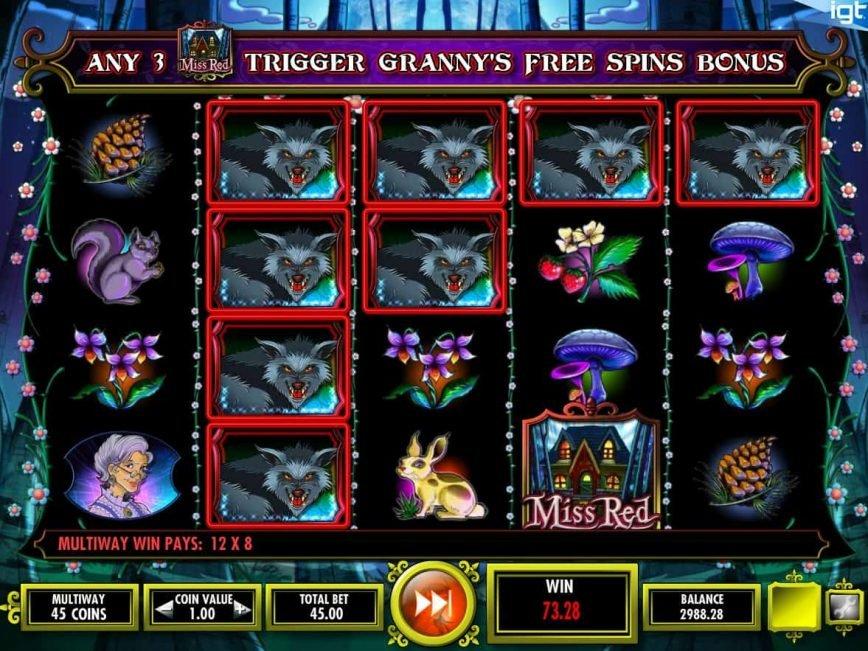 Play casino free slot machine Miss Red