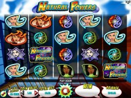 Picture from online casino game Natural Powers