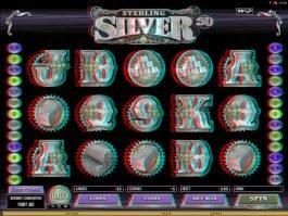 Online casino slot Sterling Silver 3D