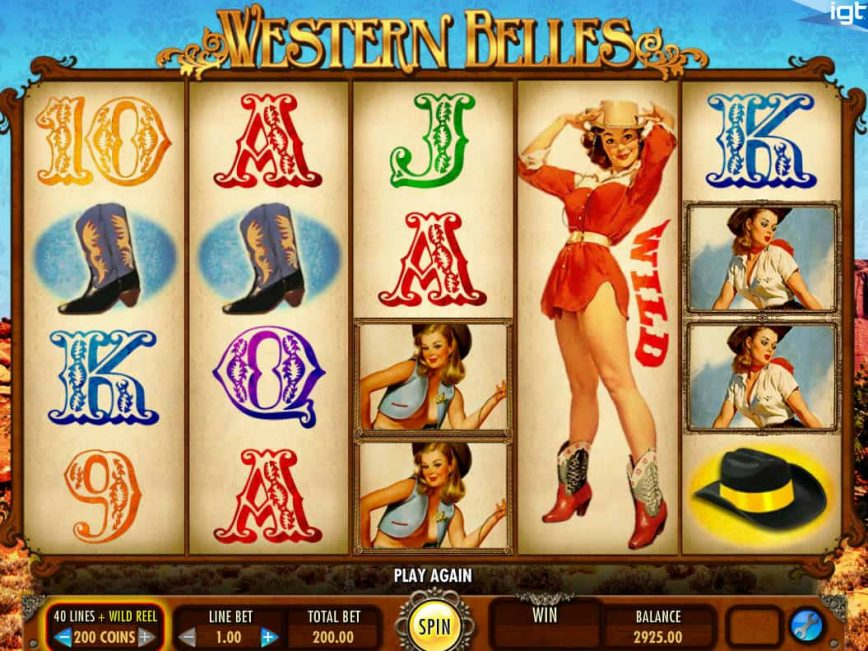 Play online free slot machine Western Belles for fun