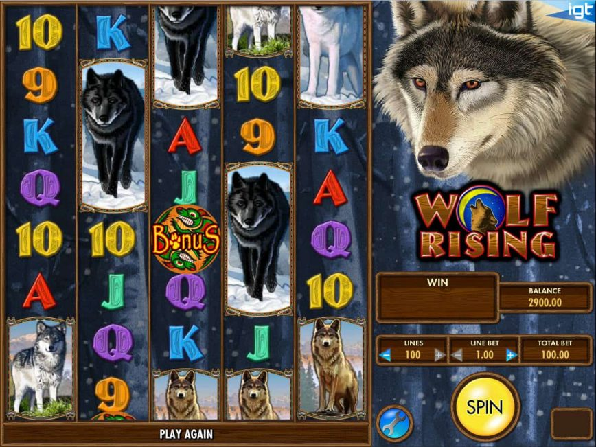 Wolf Rising slot machine online for fun