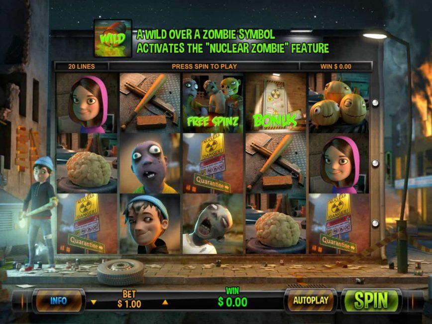 Free slot game Zombie Rush no deposit