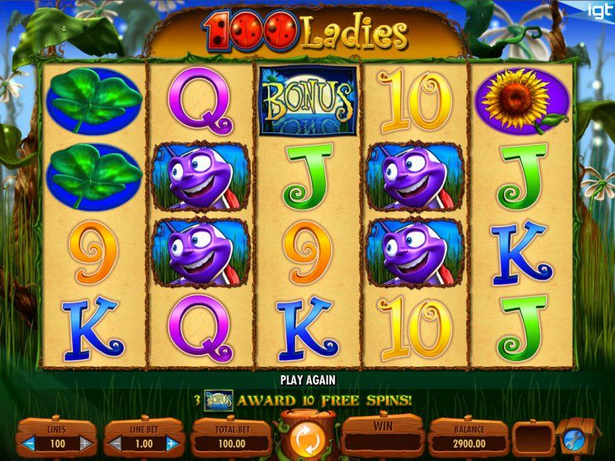 100 ladies slot game