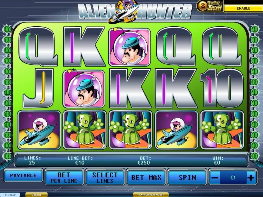 Play free slot machine Alien Hunter no deposit