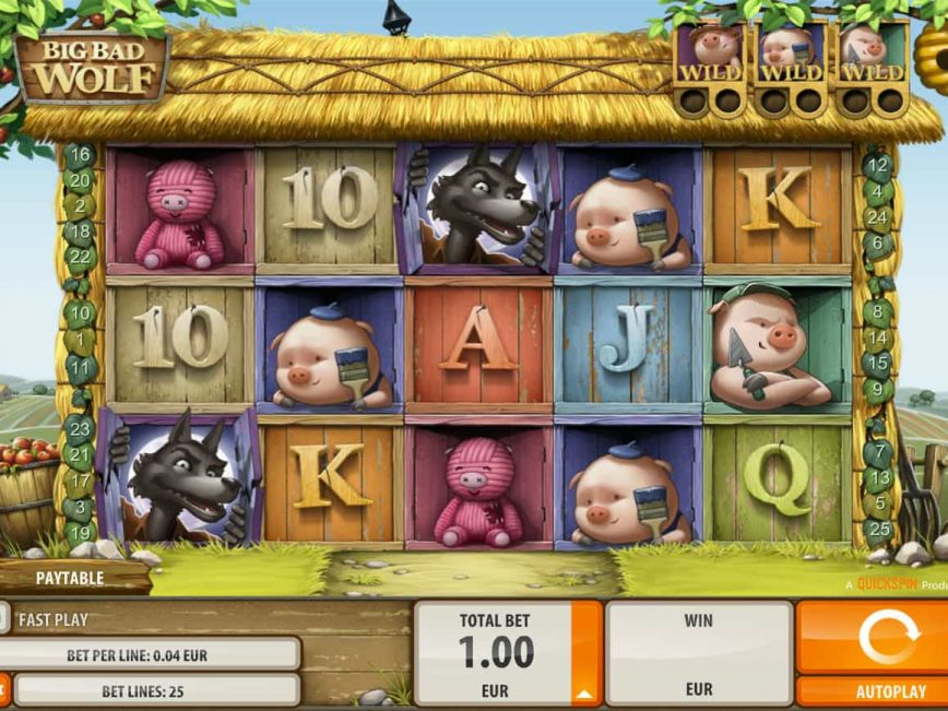 Play free casino slot Big Bad Wolf no registration