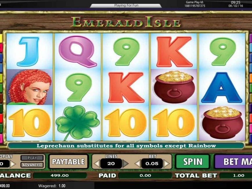 Picture from online casino slot Emerald Isle