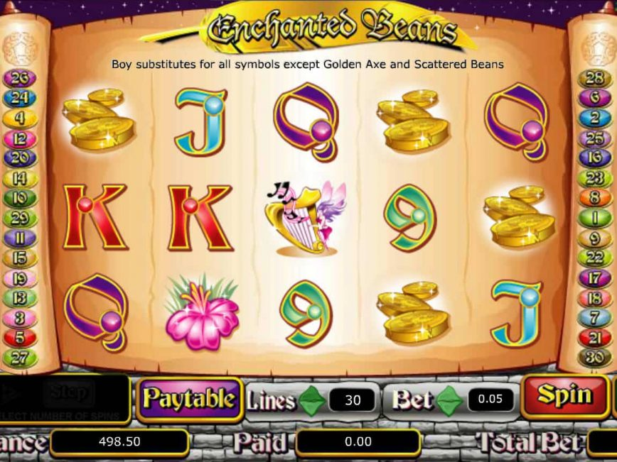 Play free slot Enchanted Beans for fun