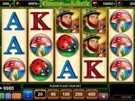 Picture from slot machine Game of Luck online