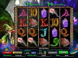 Picture from online casino slot game Merlin's Millions