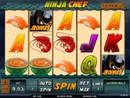 Slot machine Ninja Chef online for free