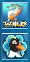 Wild and Scatter of no deposit game Penguin Splash