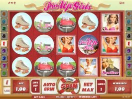 Picture from online casino slot game Pin Up Girls